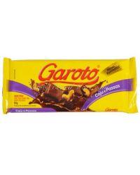 BARRA GAROTO CASTANHA PASSAS 180G CHOCOLATE