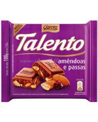 TALENTO AMENDOAS E PASSAS GAROTO CHOCOLATE
